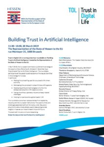 Building Trust in AI – Programme