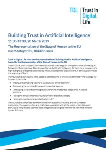 Building Trust in Artificial Intelligence Roundtable Notes – 20 March '19